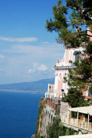 sorrento: churches in Vico Equens, Sorrento Coast, Italy Stock Photo