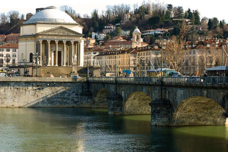 italian architecture: Italian Architecture, bridge on the river po in Turin, Italy