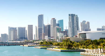 Downtown Miami skyline, Florida, USA. Éditoriale