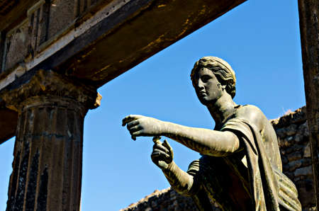 pompeii: ruin of Pompeii Stock Photo