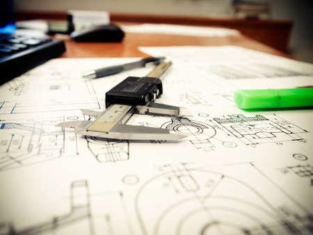 Defocus of caliper design of mechanical parts