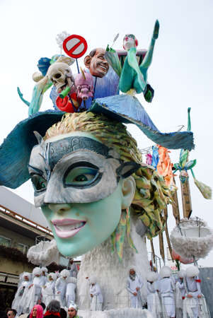 viareggio: Viareggio, Italy - February 24, 2010: Parade float During The Carnival of Viareggio on the Tuscany Italy.
