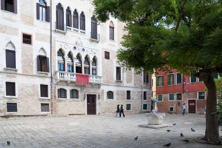 urban scene: urban scene in Venice Editorial