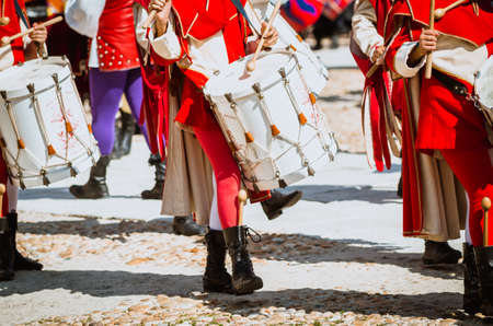 pageant: Medieval  Drummer in parade