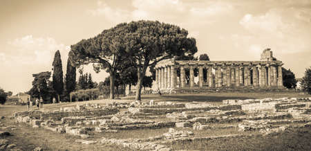 archaeological site of Paestum. Italy
