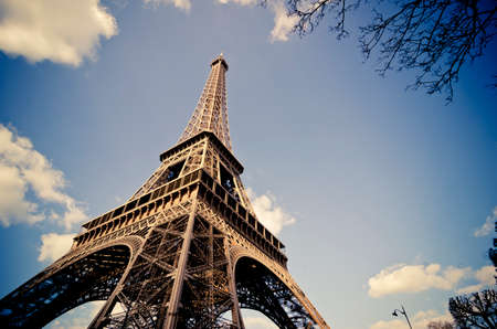 french culture: Paris, The Eiffel Tower Stock Photo