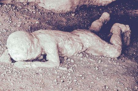 Pompeii. Child victim in the eruption of Mt Vesuvius