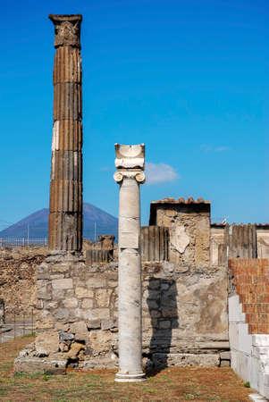 reloj de sol: Templo de Apolo en Pompeya