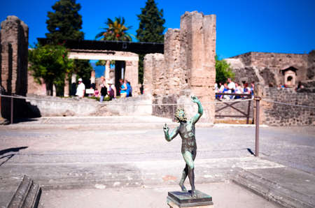 The House of the faun, Pompeii Ruins Stock Photo