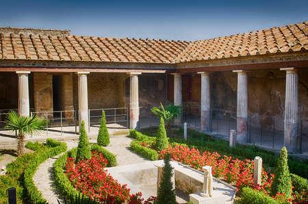 Typical luxury house in Pompeii Stock Photo
