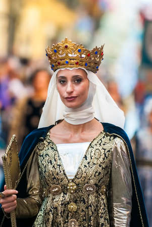reenactment: Lady of Middle Ages