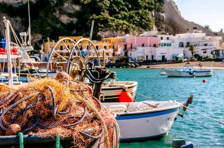 trawl: Fishing net  fishermans life in the Mediterranean Stock Photo