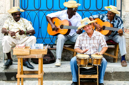 street musicians at Havana, Cuba