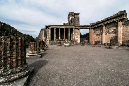 Ancient Pompeii. The Basilica was used both as a court