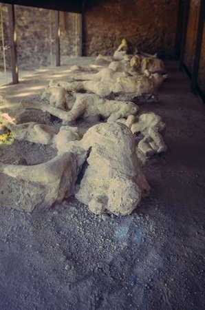 Una vittima a Pompei dell'eruzione del Vesuvio Archivio Fotografico