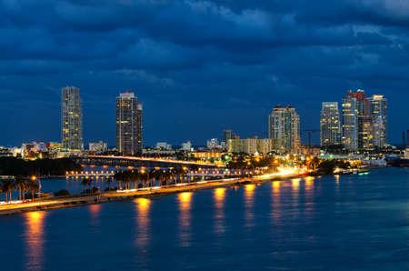 night in Miami Florida, USA