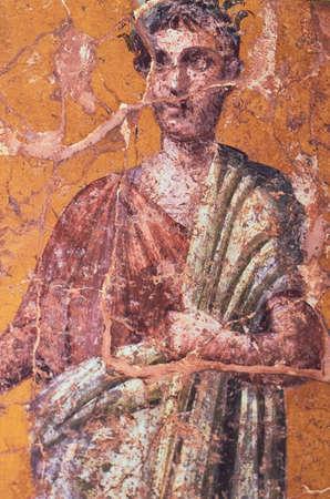 Vêtements dans la Rome antique, Figure d'un homme romain peint dans une fresque dans une Domus de Pompéi