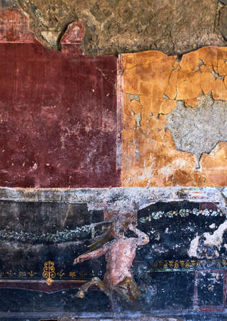 Centaur painted on the wall of an ancient house in Pompeii
