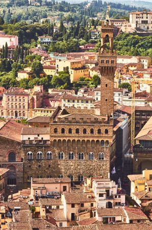 florence view with palazzo vecchio the old palace tuscany italy Banque d'images - 125270266
