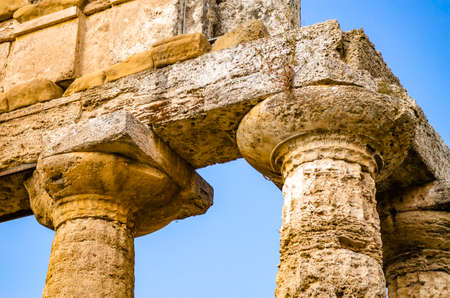 Temple of Athena at Paestum in Italy Banque d'images - 125270281