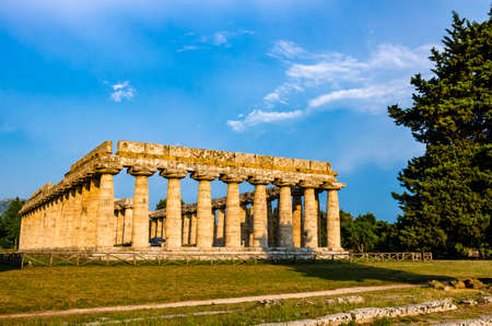 Archaeological site of Paestum , Temple of Neptune