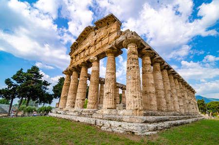 Greek temple of Ceres found at Paestum Stok Fotoğraf