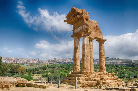 Agrigentos Valley of the Temples, Sicily Italy Banque d'images - 125271431