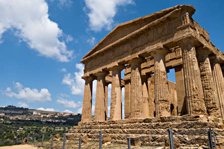 Agrigentos Valley of the Temples, Sicily Italy Banque d'images - 125271433