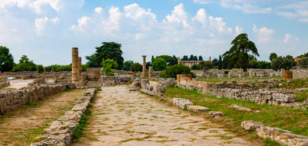 Panorama of the Temple of Athena at Paestum
