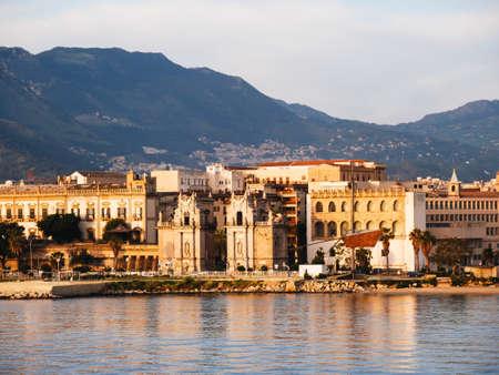 Palermo, Porta del Sole seen from the sea.