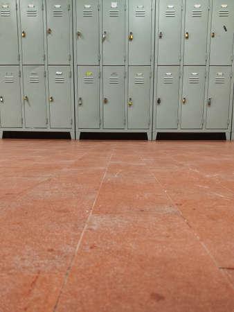 row of lockers in high school