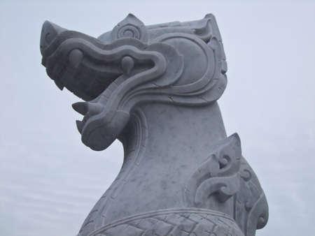 stone lion: Lion,Stone lion,Entrance Stock Photo