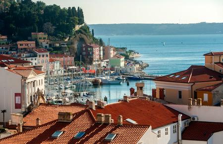 Town Piran, adriatic sea, Slovenia Standard-Bild