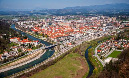 Celje town, panorama, Slovenia