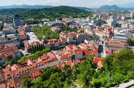 Panorama of Ljubljana, Slovenia photo