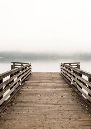 bohinj: Pier on Bohinj lake, Slovenia Stock Photo