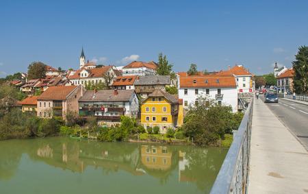 Novo mesto city, Slovenia Reklamní fotografie