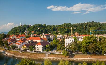 ljubljana: Panorama of Ljubljana, capital of Slovenia