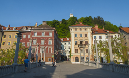 central europe: Capital of Slovenia, Ljubljana. Central Europe.  Stock Photo