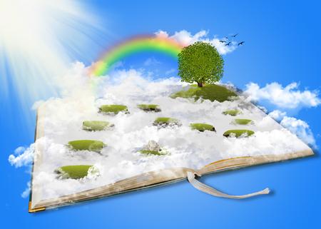 dream land: Fantasy land, dream land, wonderland, digital art Stock Photo