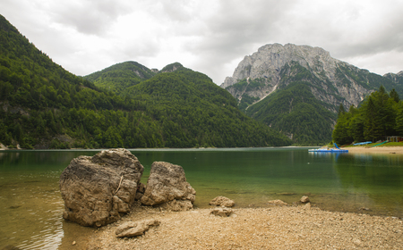 lago: Lago del Predil, Predil lake, Italy