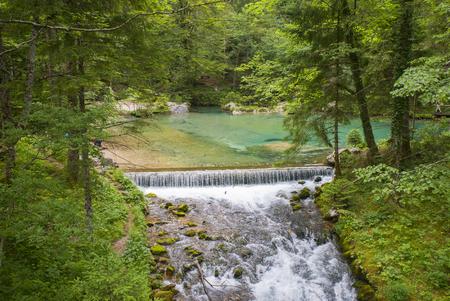 Kamniska Bistrica valley, Slovenia Standard-Bild
