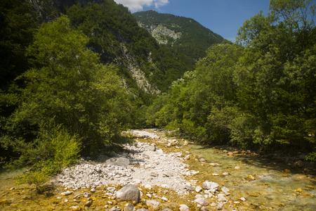Soca  Isonzo river, Slovenia Stock Photo