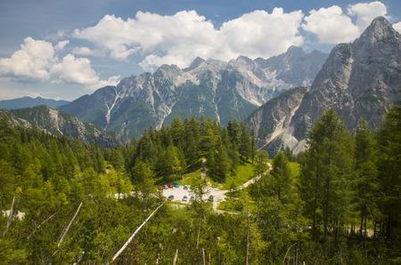 Mountain pass Vrsic, Slovenia