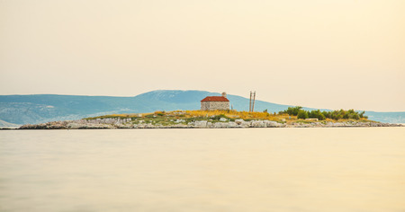 Island in Novi Vinodolski, Croatia