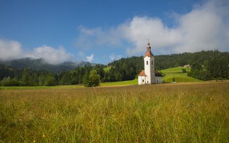 Church in Brise near Polhov Gradec town, Slovenia Stock Photo
