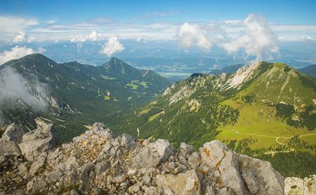 Stol mountain, view on Austria, Slovenia