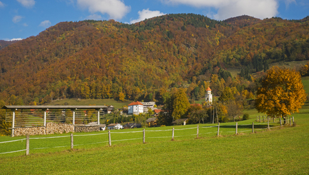 Autumn in Tuhinj, Kamnik, Slovenia