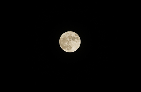 Super full moon, biggest moon in 21-th century, november 14th, 2016, seen from central Europe