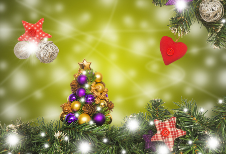 Christmas card, decoration